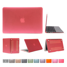 Para Macbook Air 13 pulgadas caja mate de goma dura cubierta de la superficie moda protector del ordenador portátil para Mac Book Air pro retina 11 12 13 15