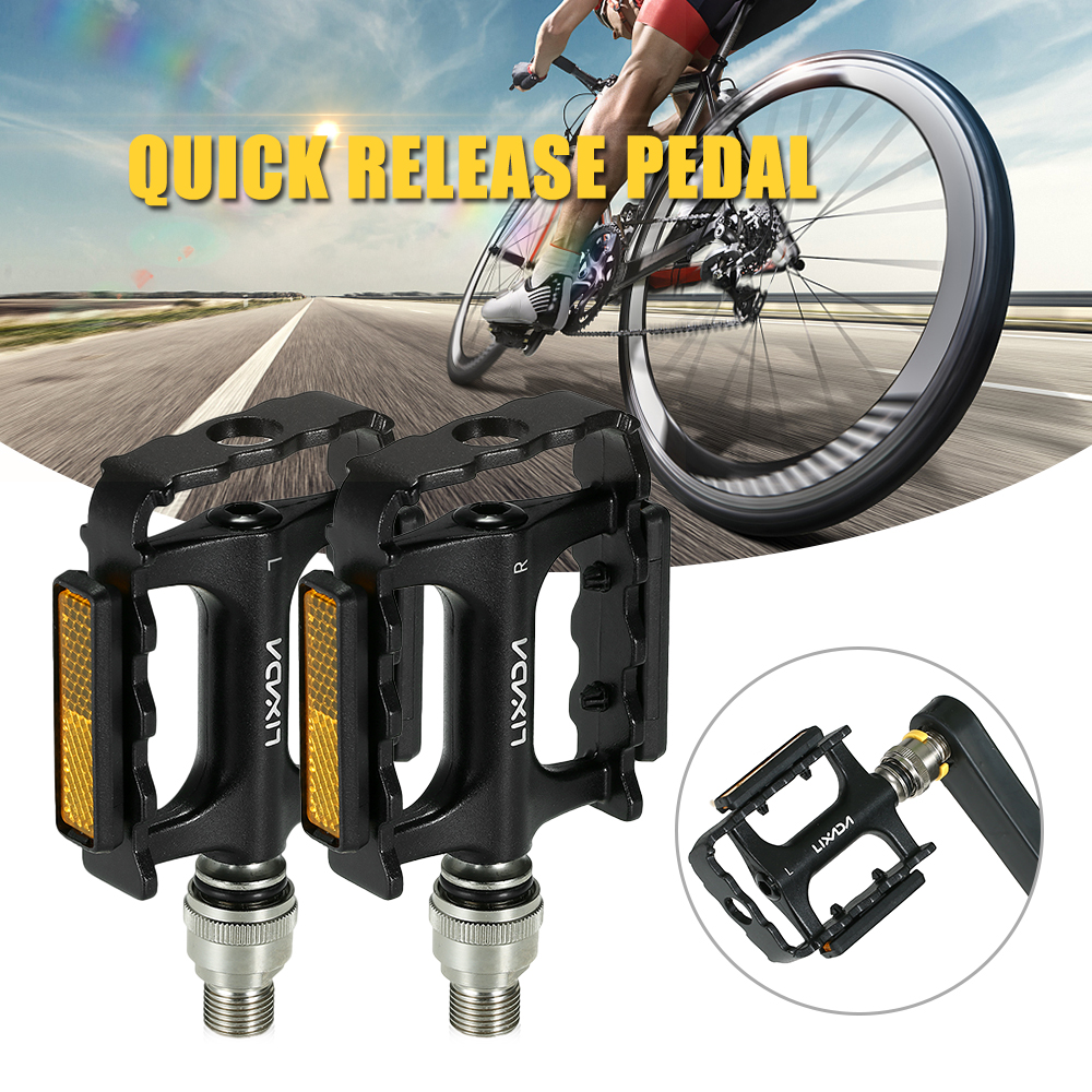 Light New Wellgo Bolt-On Pedal Reflector Set Bike Bicycle Cycling US SELLER
