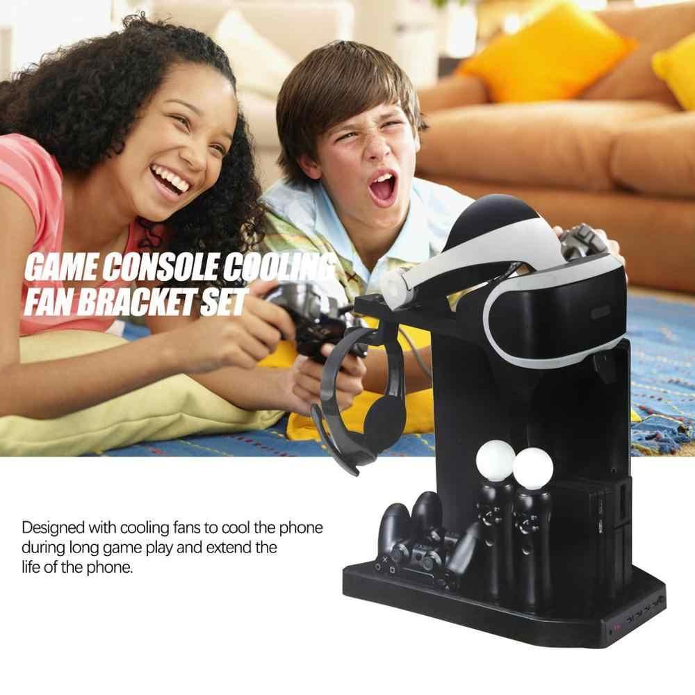 PSVR PS4 Pro тонкая зарядная стойка-витрина для демонстрации для PS4 VR Playstation 4 вертикальная подставка, вентилятор, кулер, контроллер зарядного устройства