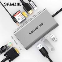 SAMZHE USB HUB C HUB to Multi USB 3.0 HDMI Adapter Dock for MacBook Pro Accessories USB C Type C 3.1 Splitter 3 Port USB C HUB