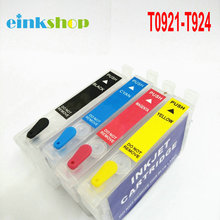 T0921 - T0924 Refillable Ink Cartridge For Epson CX4300 TX117 T26 T27 TX106 TX119 TX109 C91 Printer