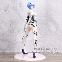 EVA Neon Genesis Evangelion Ayanami Rei 1/7 Scale PVC Figure Collectible Model Toy Black/White 24CM