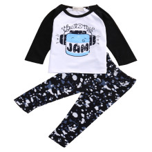 New Arrival Summer Autumn Newborn Toddler Kids Baby Boys Girls Outfits Clothes Cotton Blend T-shirt Tops Pants 2PCS Cartoon Set