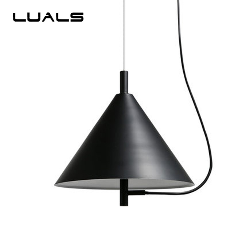 LAULS Modern LED Pendant light Iron Metal Light Fixtures Fashion Living Room Bedroom Restaurant Dining Kitchen Pendant Lights nordic post modern black metal dining room pendant light modern led living room bedroom lights kitchen light