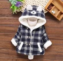 2017 Fashion cute cat high quality baby boy/girl's winter thicken cute snow wear OT013(China)