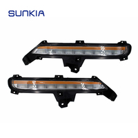 SUNKIA Day Lights For KIA RIO K2 2015 2017 LED Daytime Running Lights Car Styling Yellow