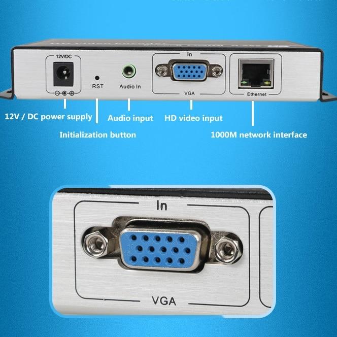 H.265/H.264 IPTV Encoder VGA Video Encoder with VGA input for IPTV broadcasting support RTMP RTSP ONVIF