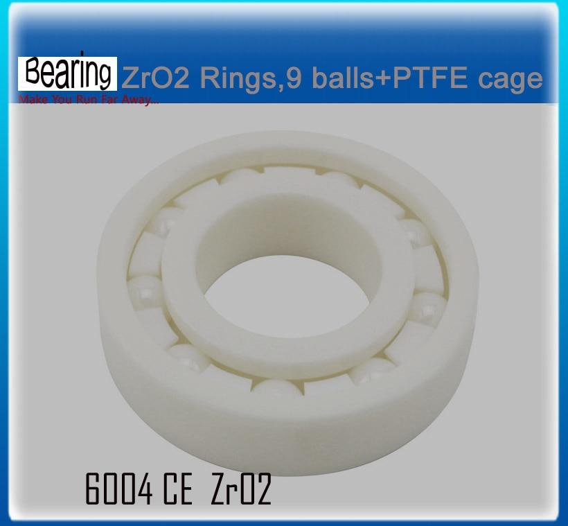 ZRO2 full Ceramic bearing 6004 20x42x12mm ceramic bike repair bearing 1 piece ceramic 2 piece stacking