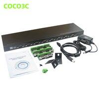 USB 2.0 до 8 Порты и разъёмы DB9 Splitter Box последовательный Порты и разъёмы RS422 RS485 Порты и разъёмы множитель концентратора COM RS232 адаптер конвертер