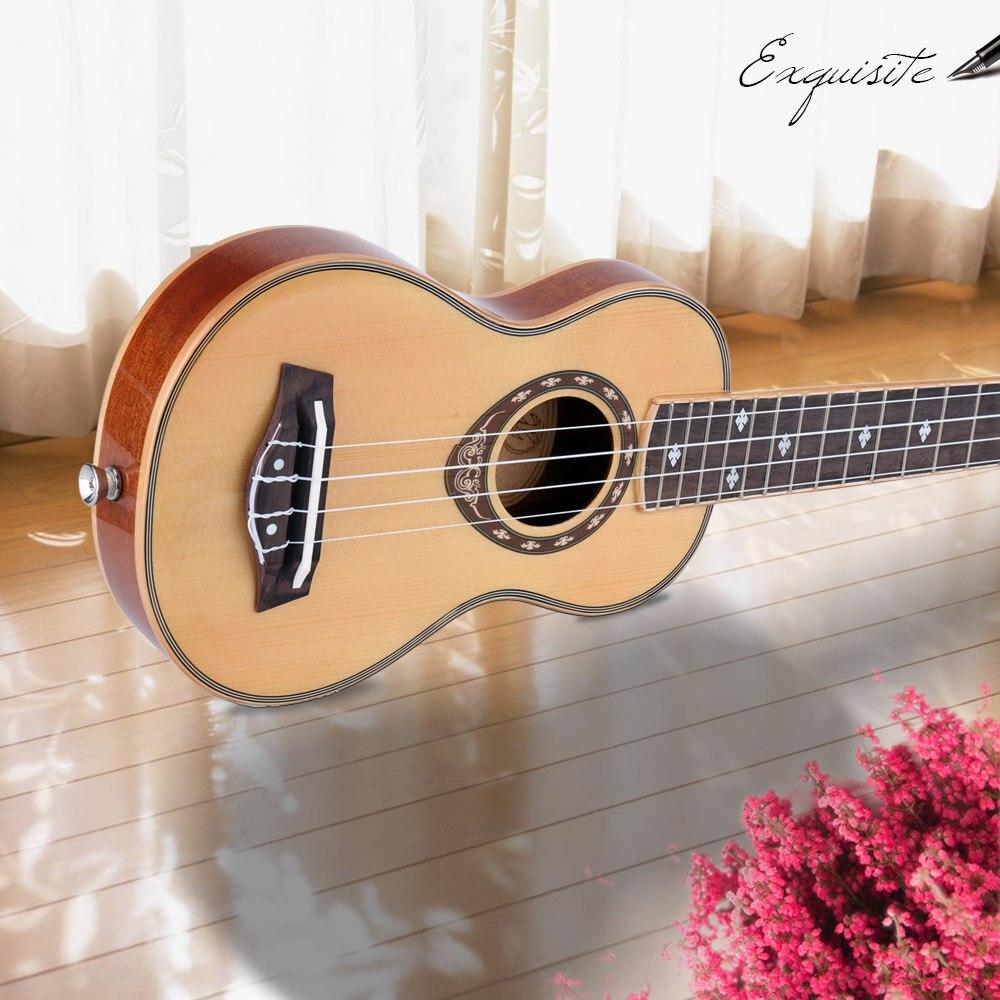 21 Ukelele Soprano Ukulele Spruce 42mm Slim Design Mahogany Fingerboard High Gloss Surface Smooth and Beautiful