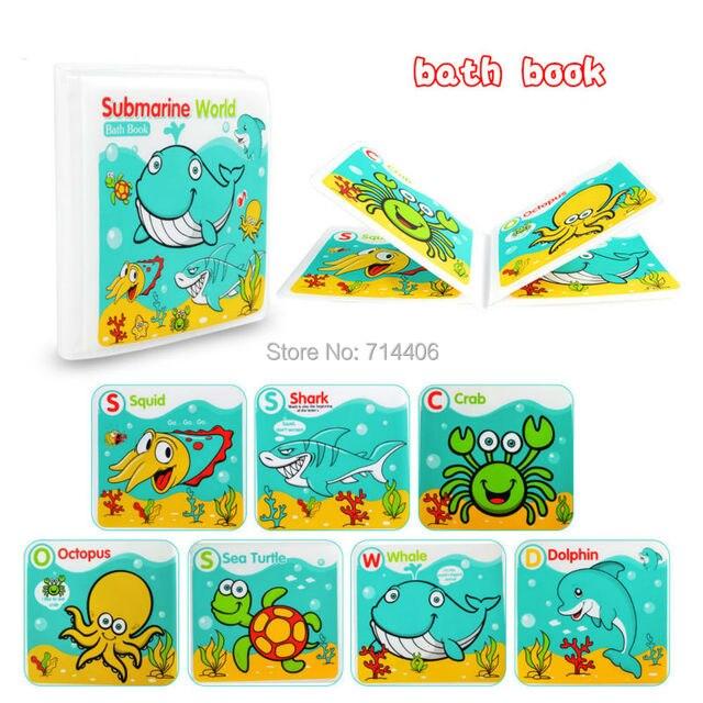 Waterproof Baby Bath Book Learning Animal Speaker food Undersea ...