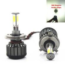 4 fichas COB 84 W 12000lm Coches Faros H4/H7/H11/H8/9005/9006 LED frente Cabeza de la lámpara Bombilla de Automóviles