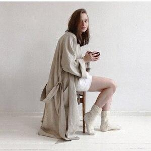 Image 2 - 7 kolorów. Kobiety bielizna nocna pościel piżamy szaty. Oddychająca prysznic Spa pościel szlafrok noc szlafroki koszula nocna szlafrok szlafrok