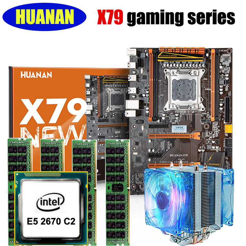 Huanan x79 deluxe gaming motherboard cpu ram combos x79 for 2670 5