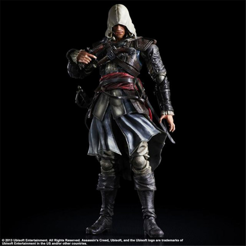 все цены на Tobyfancy Assassin's Creed Action Figure Playarts Kai Edward James Kenway Model Toys PVC 275mm Assassin Creed Edward PA Kai