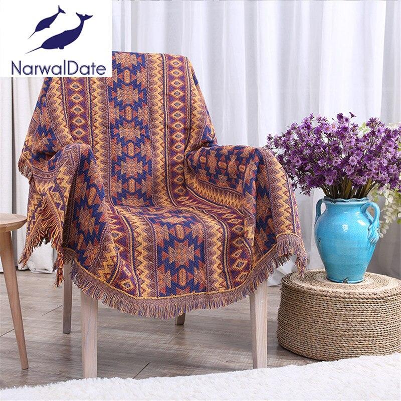 Bohemian Blanket Sofa Decorative Slipcover Throws On Sofa