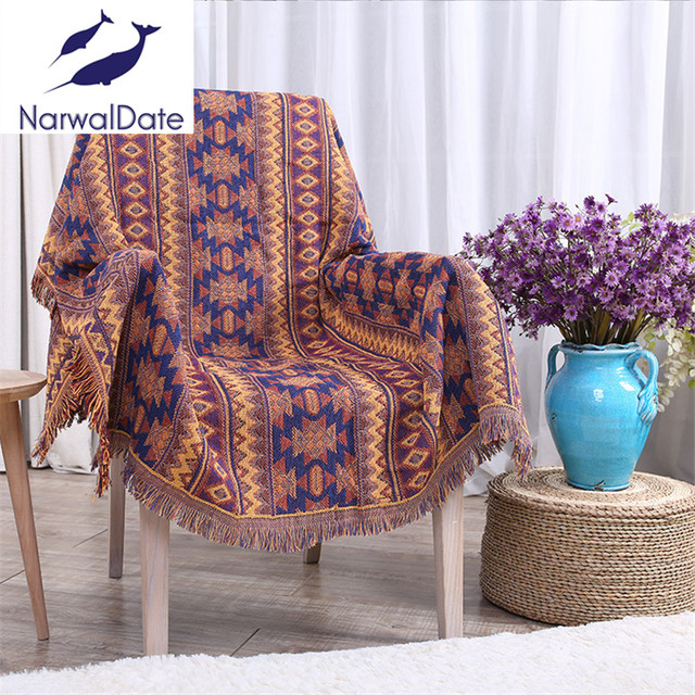 Bohemian Throw Blankets Cool Aliexpress Buy Bohemian Blanket Sofa Decorative Slipcover