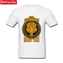 Tshirts Swag muay thai tiger thailand made For Men T Shirt Design and Printing Short Sleeve Valentine's 3XL(China)
