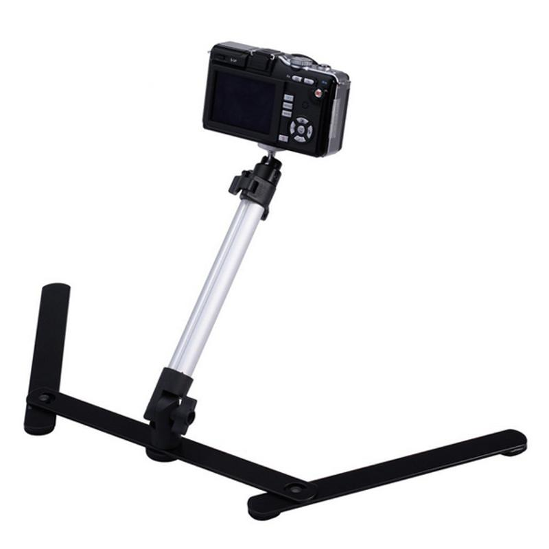 Adjustable photography angle Table Top Aluminum Camera Mini Monopod with 1 Flexible Stand for DSLR font