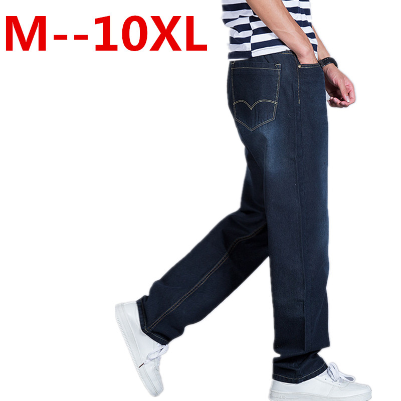 plus size 10XL 9XL 8XL 6XL 5XL Men Brand Jeans Fashion Casual Male Denim Pants Trousers Cotton Classic Straight Jeans Masculina xmy3dwx n ew blue jeans men straight denim jeans trousers plus size 28 38 high quality cotton brand male leisure jean pants
