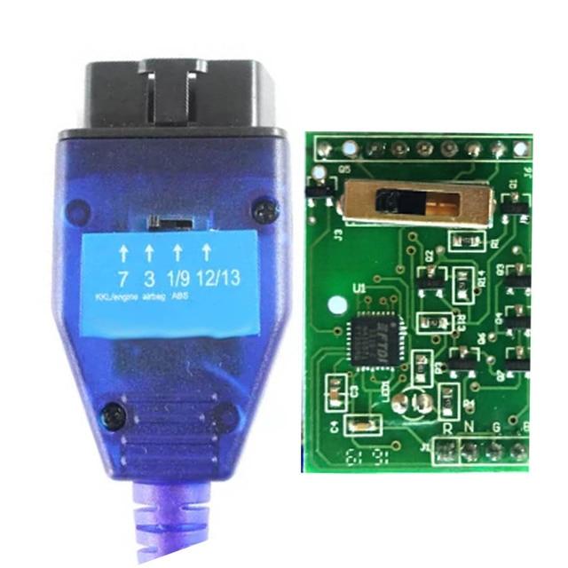 Miglior interruttore a 4 vie FTDI FT232RL Chip VAG USB Obd2 cavo diagnostico uso per Fiat Car Ecu Scan Tool VAG interfaccia USB adattatore OBD