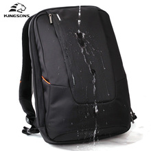 Kingsons Brand Waterproof Men Women Laptop Backpack 15.6 inch Notebook Computer Bag Korean Style School Backpacks for Boys Girls