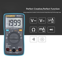 BSIDE  ZT98 Mini Auto Range Digital Multimeter 1999 counts AC/DC Ammeter Voltmeter 550V Overload Protection LCD Backlight Meter large lcd trms clamp multimeter 6000 counts temperature auto range ac dc ammeter with backlight free shipping ng4s