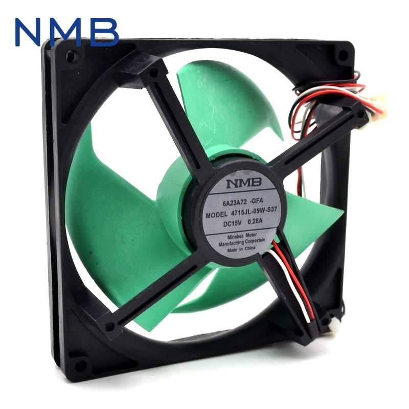 Free shipping original NMB DC15V 0.28A FBA12J15V refrigerator cooling fan original nmb refrigerators for panasonic nr c25vx2 bcd 251wxbc frozen club cooling fan