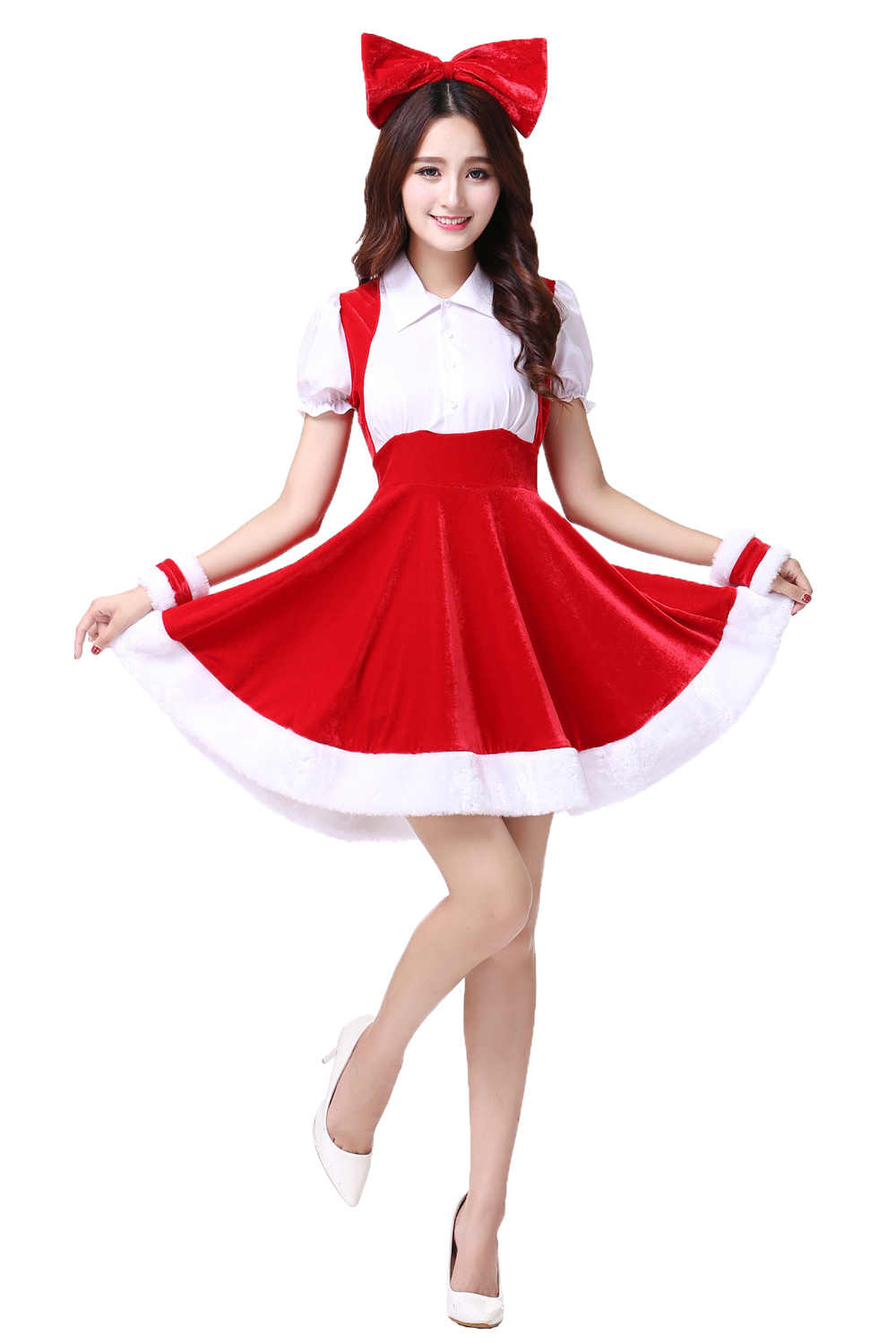 3389872980b Detail Feedback Questions about Mrs Santa Dress Christmas Sweetheart Sexy  Adult Santa Claus Mini Party Cosplay Costume Women on Aliexpress.com