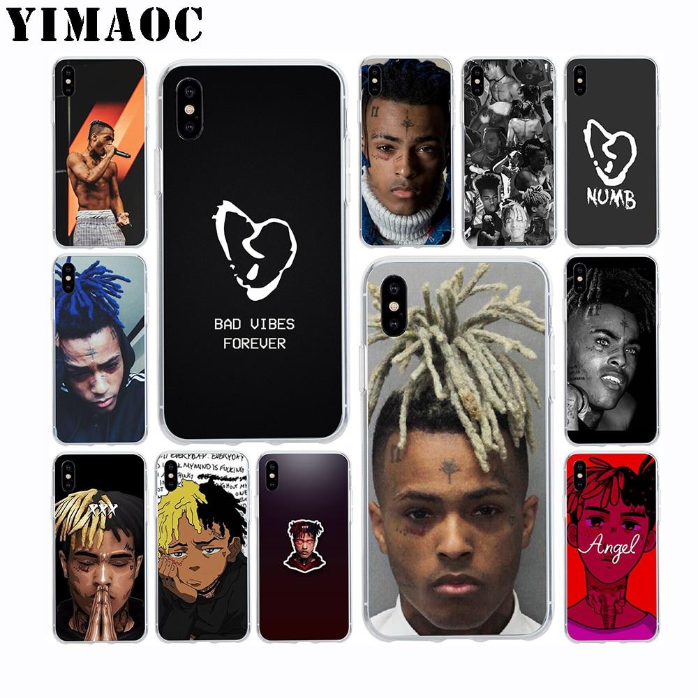 YIMAOC XXXTENTACION Soft TPU Silicone Case for Apple Iphone Xr Xs Max X 10 8 Plus 7 6S 6 Plus SE 5S 5 7Plus 8Plus Cover