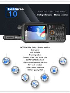 Image 3 - Intercom dual network radio walkie talkie Handheld Wifi GSM Public Network radio WCDMA Scanner Police Radio equipment