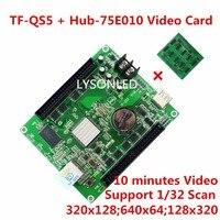 Beautiful LED Video Card TF QS5 320x128Pixels Gigabit Ethernet U Disk Support Any Scan Mode 512M