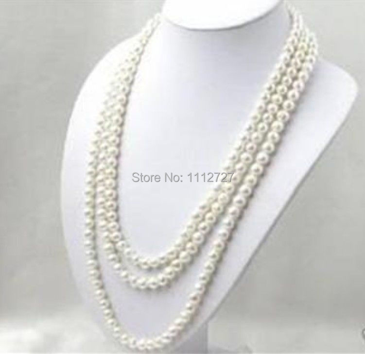 LONG 80 INCHES 7-8MM WHITE AKOYA CULTURED PEARL NECKLACE beads Hand Made jewelry making Natural Stone YE2077 Wholesale Price long 80 inches 7 8mm white akoya cultured pearl necklace beads hand made jewelry making natural stone ye2077 wholesale price