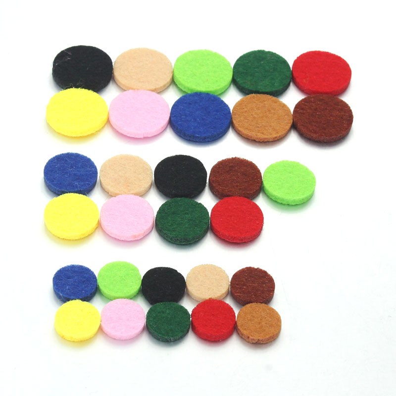 10PCS Mixed Colors Oil Pad Colorful Felt Pads for 30mm 22mm 18mm 15mm Perfume Locket Essential Oil Diffuser Locket Accessories