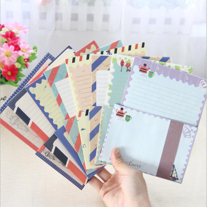 1set / Lot Creative Vintage, Navy DIY Multifunctional Letter Set With Paper Envelope / Paper Package 8 Random Transmissions