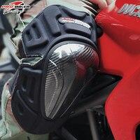 Motorcycle Carbon Knee Elbow Pad Motorcross Racing Knee Protection Pad Moto Off Road Kneeling Black Cap