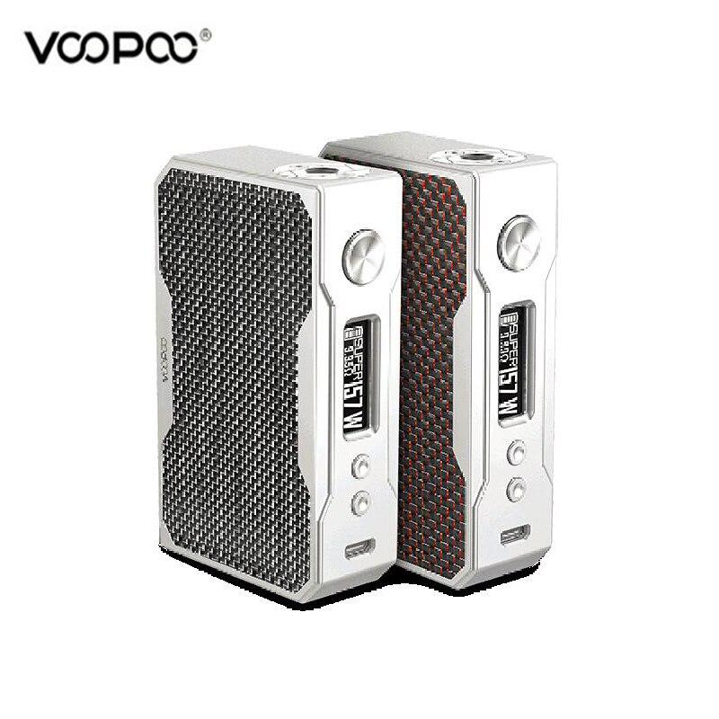 Оригинальный VOOPOO перетащите 157 Вт углеродного волокна поле Mod VW/TC Vape электронная сигарета перетащите пара MOD