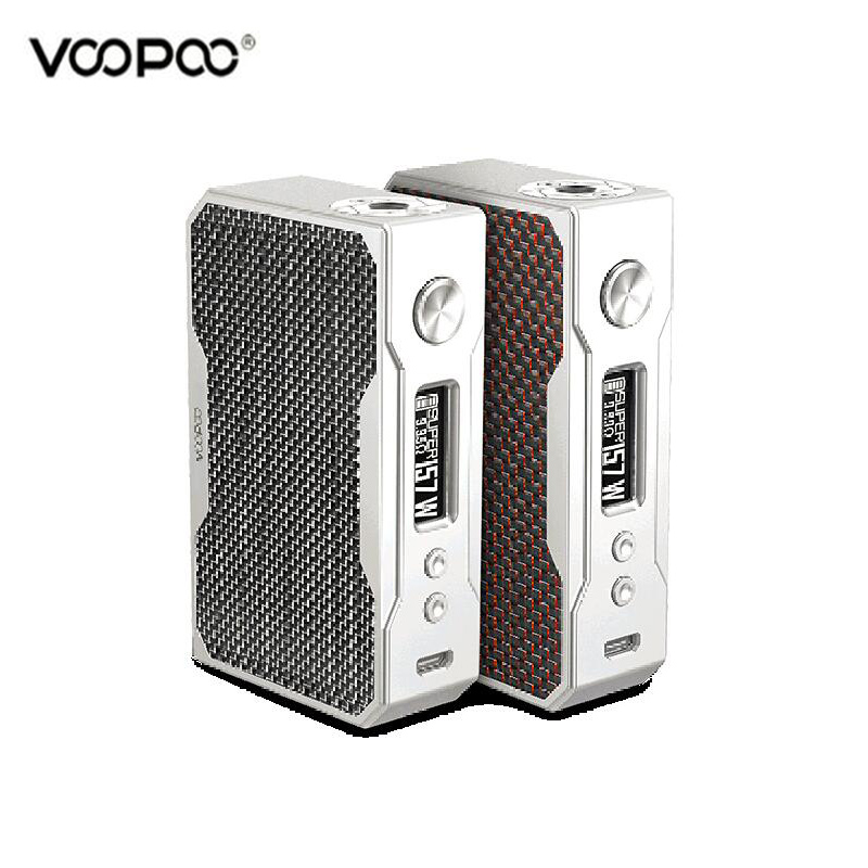 Original VOOPOO Drag 157W Carbon Fiber Box Mod VW/TC Vape Electronic Cigarette Drag Vapor MOD vivakita original child lock design cigarette electronique fusion 50w vw mod electronic cigarette in kuwait