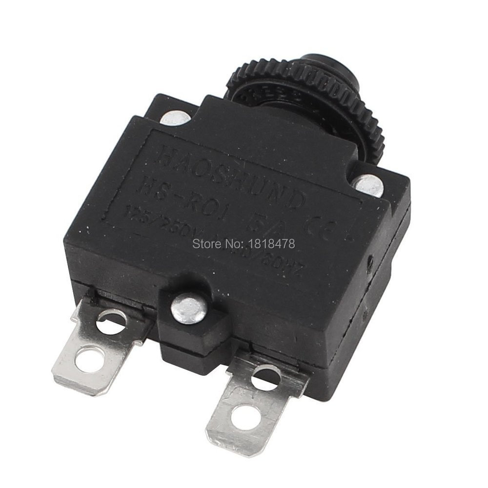 HS R01 5A 10A 15A 20A AC 125/250V 5A Circuit Breaker Protection Overload Protector Black