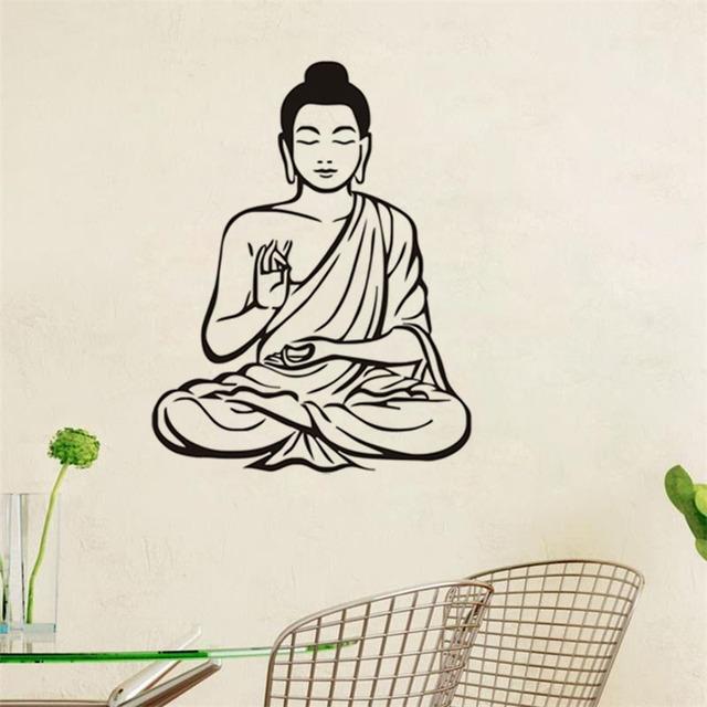 Sticker of Meditating Buddha