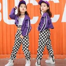 25c52c31392c2 Ropa de actuación de Hip Hop para niños trajes de baile de Jazz trajes de niñas  Crop Tops pantalones de baile de salón ropa de e.