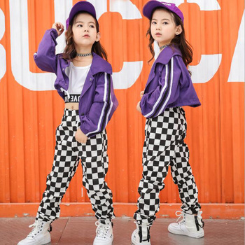 Kids Hip Hop Performance Clothing Clothes Jazz Dance Costumes Suits Girls Crop Tops Pants Ballroom Dancing Stage Wear Outfits