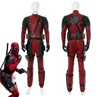 abd4dcba3f Cosplay Costume Deadpool 2 Wade Winston Wilson Cosplay Costume Full Set  Adult Men Halloween Carnival Costumes