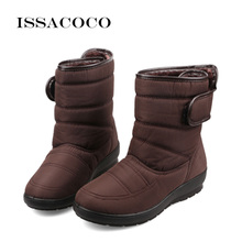 ISSACOCO Snow Boots Women Shoes For Ladies Kids Girl Baby Fashion Casual Antiskid Waterproof