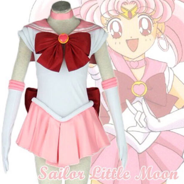 Sailor Moon Chibi Usa belle Bowknot robe uniforme Outfit Halloween Cosplay Costumes