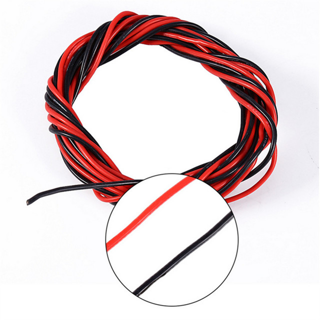 Electrical Wire Tinned Copper Awg 20 Insulated Pvc Extension Led Cable Red Black Wire Electric Extend Cord Battery Wire