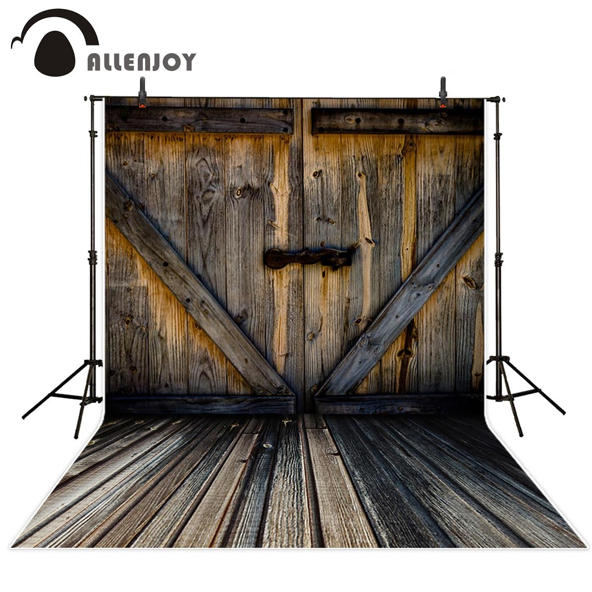 Allenjoy photography backdrops Wooden door vintage professional photo studio background vinyl backdrops for photography