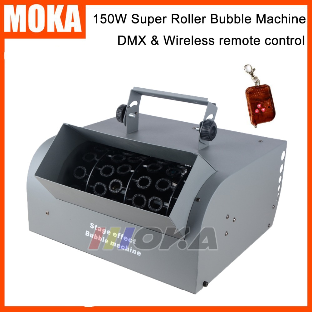 Roller Bubble Machine150W DMX 512 Wireless Remote Control Bubble Blower Machine For Wedding /Stage