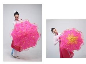 Image 2 - 무대 춤 우산 밸리 댄스 소품 무대 소품 팬 오프닝 댄스 우산 성능 꽃 우산 중국어 우산