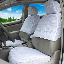 O SHI CAR Custom Car Seat Cover Thickened Lace Material Five-seat Covers Half A Pack Special for Volkswagen Polo